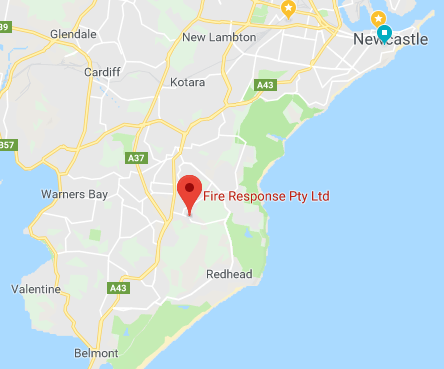Fire Response location map