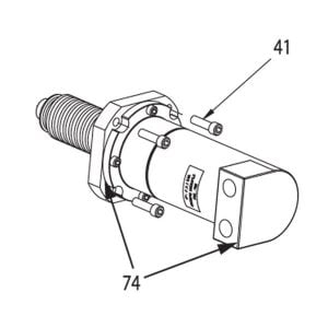hydraulic motor assembly part for 3492