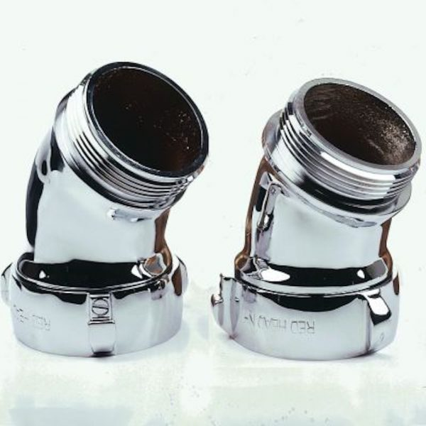 Chrome plated brass elbow