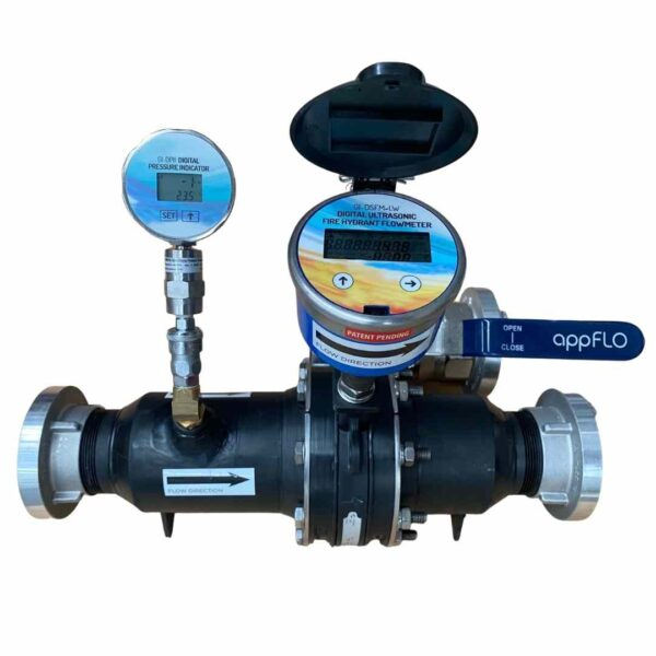 lightweight ultrasonic fire hydrant flowmeter